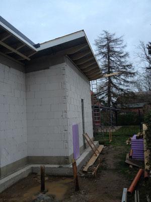 Trapezdach mit Dachüberstand