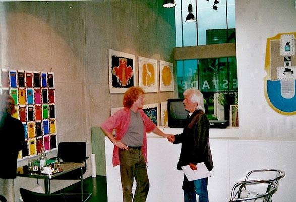 Vlado mit Gerolf Hauser, der Kulturredaktor des Liechtensteiner Volksblatts