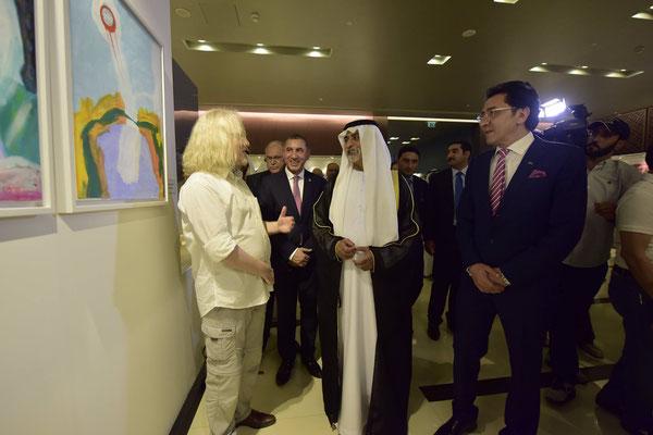2016 Vlado Franjević and S.E. Sheikh Nahyan Bin Mubarak Nahyan, UAE Culture Minister in Al Ain