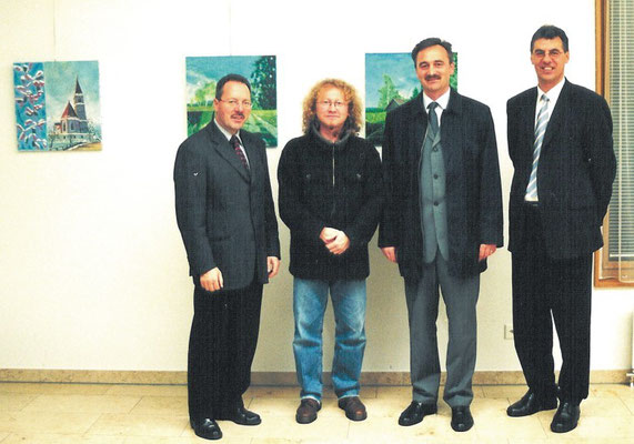 Jakob Büchel, Vlado, Josip Spoljarić and Arnold Kind (from left)