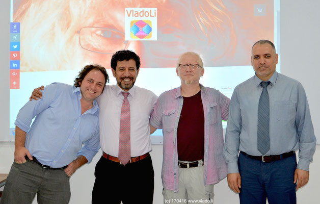2016 UAE - Dubai (American University in Emirates), from left to right: Prof. Darren Herbert, Prof. Wamidh A. Jamil, Vlado Franjević, PhD Arafat Al-Naim