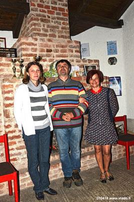 S lijeva na desno: Lidija i Franjo Matešin i Rajka Poljak