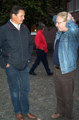 Kuenstlerkollegen unter sich Stephan Sude und Vlado Franjević