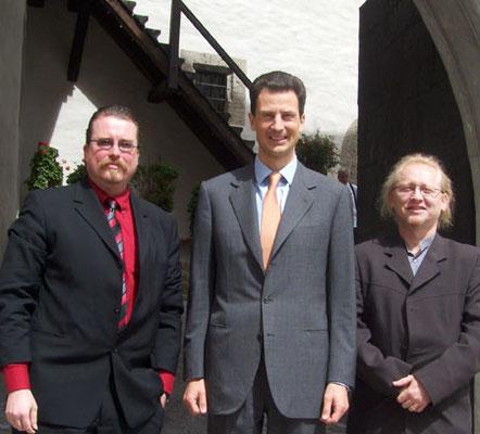with Roland Weiniger (left) and Prince Alois von und zu Liechtenstein