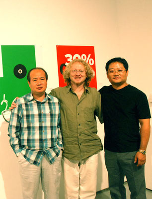 2009, with Korean graphic designers Ahn (left) and Choi (rights) in USA/L.A. - CSUN