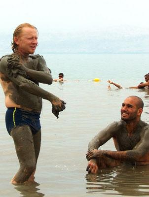 Vlado and Ahmad in Dead Sea