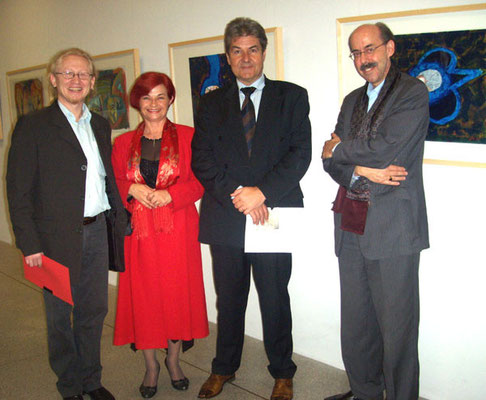 with Rajka Poljak Franjević, Jakša Muljačić and lic.Phil. Norbert Hasler in Liechtenstein National Museum, FL/Vaduz