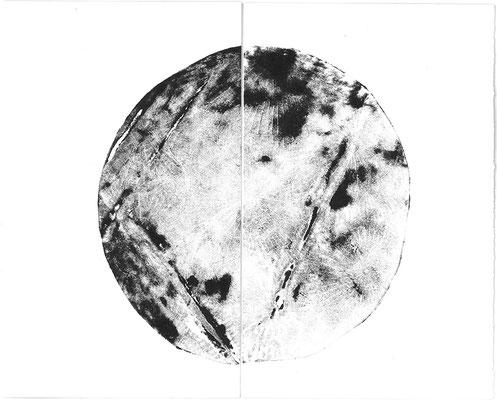 Moon - Radierung - Unikat - Marianne Nagel
