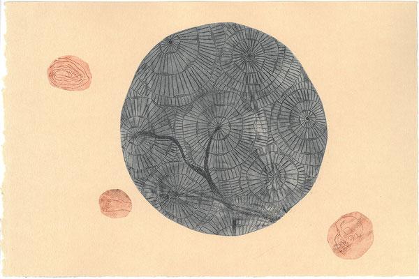 Bones - Radierung - Unikat - Marianne Nagel