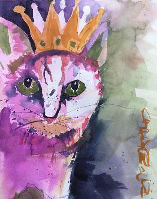 Katzenkönigin, 50 x 40, verkauft