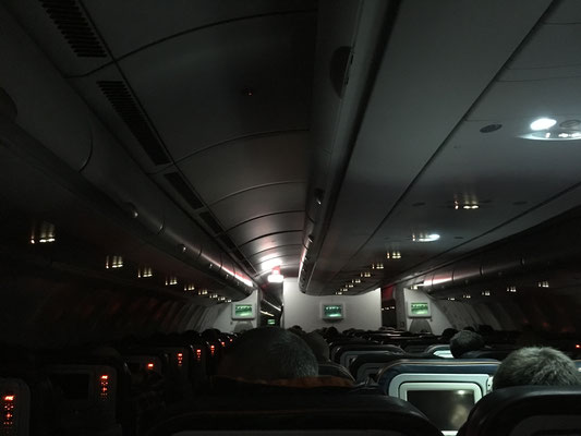 zu viel Licht für einen Nachtflug