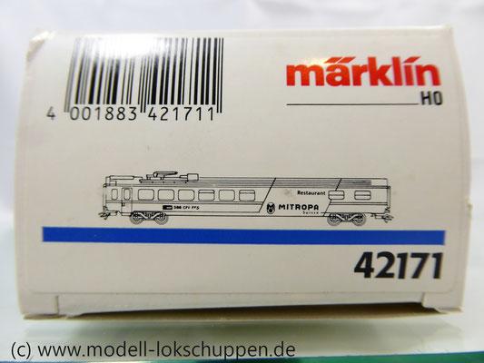 Märklin 42171  Euro-City-Wagen Mitropa Restaurantwagen IV WRm der SBB    3