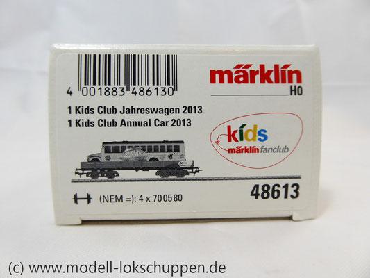 Märklin 48613 / Märklin Kids Club Jahreswagen 2013  Niederbordwagen mit Schulbus     2
