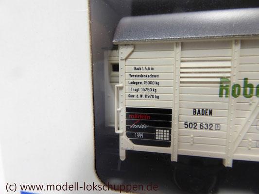 """Märklin H0 48754 Insider Jahreswagen 1999 """"Robert Metzger & Co""""    5"""
