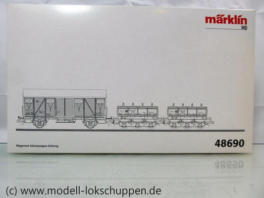 Märklin 48690 H0 Wagen-Set Gleiswaagen-Eichzug, DB, Ep. IV    1