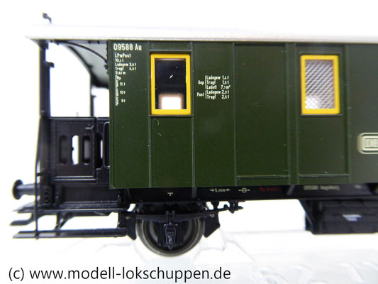 Märklin 43030 Nebenbahnwagen Post und Gepäckwagen der DB H0   5
