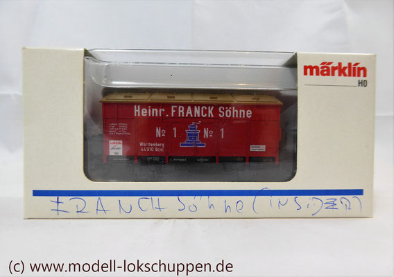 "46969 Märklin Insider Jahreswagen 1996 Klappdeckelwagen ""Heinr. FRANCK Söhne""    3"