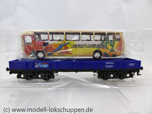 Märklin 48707 / Niederbordwagen Rlmms Sondermodell: 1.FC Märklin Jahreswagen 2007    3