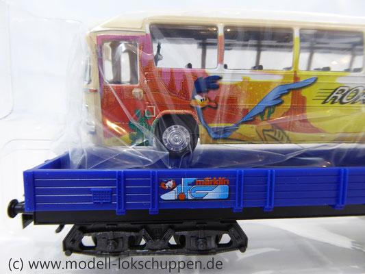 Märklin 48707 / Niederbordwagen Rlmms Sondermodell: 1.FC Märklin Jahreswagen 2007    4