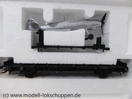 Märklin 45097 Wagen-Set - 6 Flachwagen und 1 Güterzug-BegleitwagenDRG Flugzeug-Transport Me 109    7