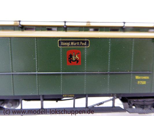 Märklin 4229 Schnellzug-Postwagen der Königlich Württembergischen Post    5