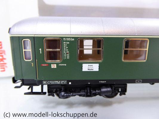 Märklin 43930 H0 Schnellzugwagen der DB 1./2. Klasse AB4üm-63 der DB     2