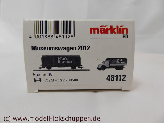 Märklin 48112 Museumswagen-Set 2012 Mink Bürsten, Ep. IV   1