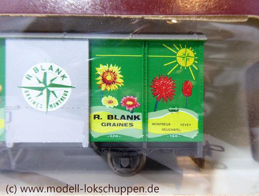 BEMO 2274 302 - Werbewagen - Gedeckter Güterwagen - Gk 502 - R. Blank - MOB - H0m
