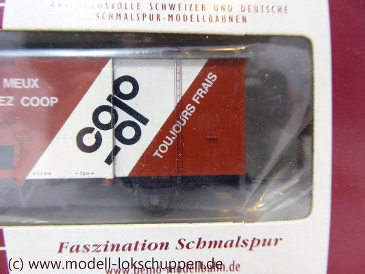 Bemo 2274 327 - Werbewagen - Güterwagen - Gk 507 - COOP - MOB - H0m