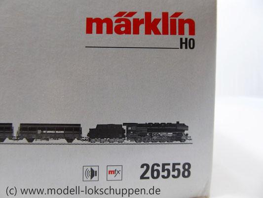 Märklin 26558 Einmalige Serie BR 44  DB mit schwerem Güterzug Stahlröhren    1