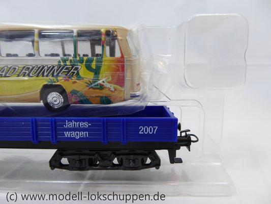 Märklin 48707 / Niederbordwagen Rlmms Sondermodell: 1.FC Märklin Jahreswagen 2007    5