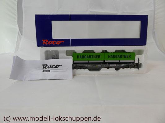 "Roco 66595  Einheitstaschenwagen SBB ""Hangartner AG"" OVP   1"