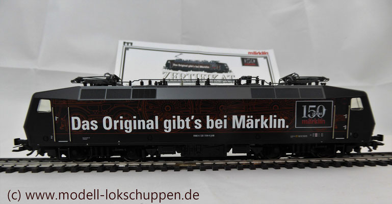 """BR 120.1 """"150 Jahre Märklin"""" DB / Märklin 37530 / MHI 2009    4"""