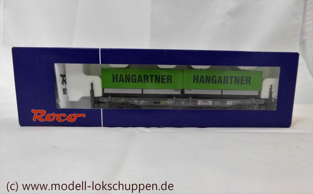 "Roco 66595  Einheitstaschenwagen SBB ""Hangartner AG"" OVP   6"