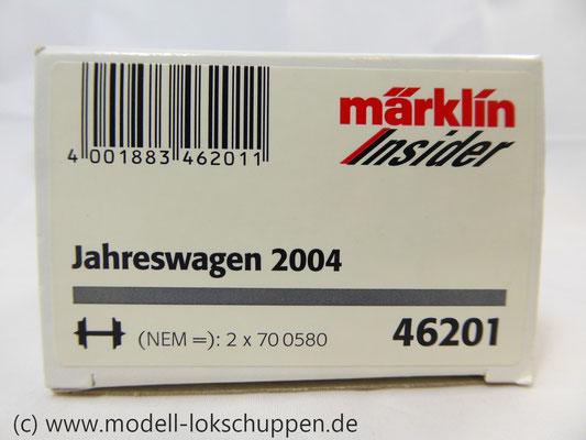"Märklin 46201 Insider-Wagen 2004: Gedeckter Güterwagen ""Ganter Bier""     1"