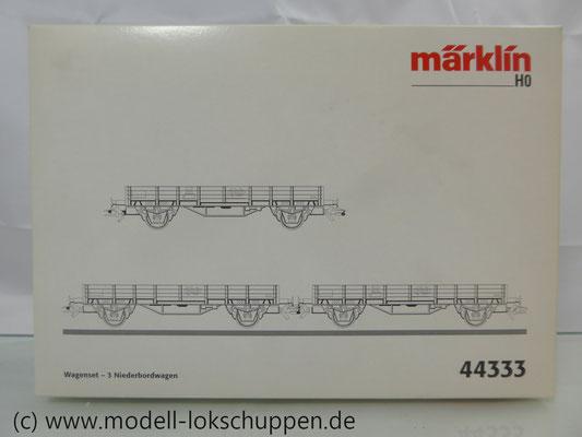 Märklin 44333  Set 3 Niederbordwagen  Typ E 515 der NS  verschiedene Farben