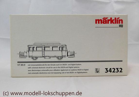 """Schienen-Omnibus """"Wismar"""" BR VT 89.9 der DB / Märklin 34232    2"""