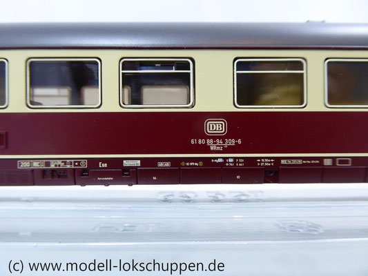 "Märklin 42973 ""IC Südwind"" TEE-/InterCity Speisewagen Bauart WRmz 135 OVP      4"