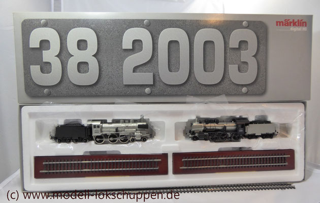"Lokomotiv-Packung ""Baureihe 38"". (Metall-Technologie-Edition) / Märklin 00380   1"
