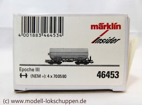 """Druckgas-Kessselwagen """"EVA"""" der DB / Insider 2006 Märklin 46453    1"""