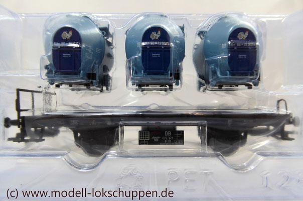 """Behälter-Tragwagen Bt 10 (DB) """"Knorr KIKERIKI EIER MAKKARONI"""" / Märklin Jahreswagen 2008"""