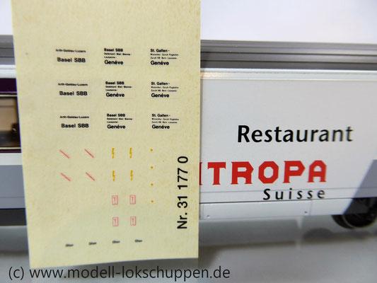 Märklin 42171  Euro-City-Wagen Mitropa Restaurantwagen IV WRm der SBB    8