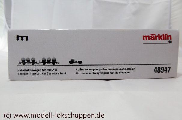 Märklin 48947  Tragwagen-Set mit Birkel pa-Behältern   1