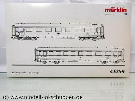 "Märklin 43259 Schnellzugwagen-Set ""Berlin-Hamburg"" DRG Ep.2     3"