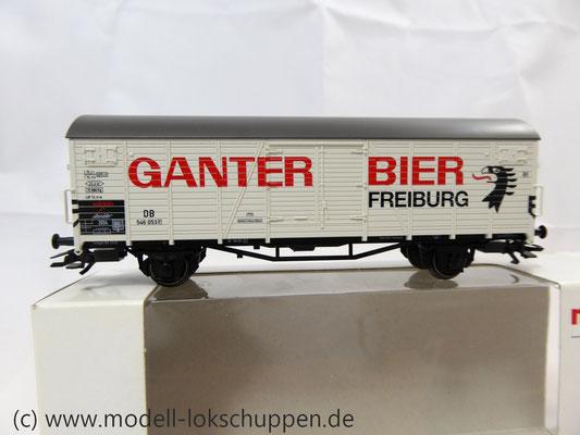 "Märklin 46201 Insider-Wagen 2004: Gedeckter Güterwagen ""Ganter Bier""     3"