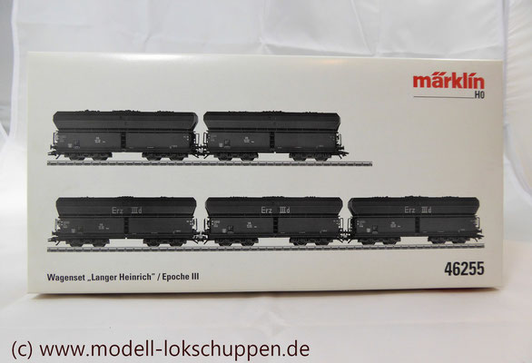 "Märklin 46255 Güterwagen-Set ""Langer Heinrich"" / 5 Selbstentladewagen   2"