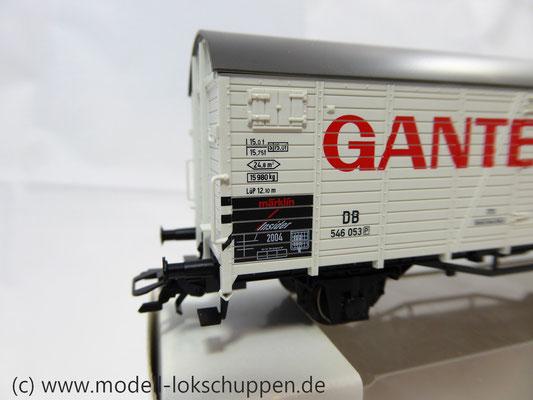 "Märklin 46201 Insider-Wagen 2004: Gedeckter Güterwagen ""Ganter Bier""     4"