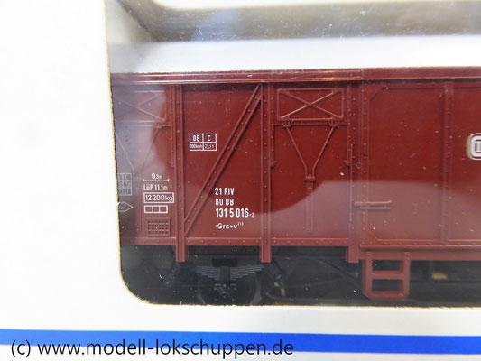 Märklin 4411 Gedeckter Güterwagen Grs-v 213 der DB mit beleuchteter Schlusslaterne   3