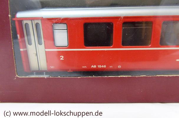 Bemo 3256 126 - Personenwagen 1/2 Klasse - Ew I BB - Signet - AB 1546 - Bernina Bahn - RhB - H0m - Kurze Ausführung