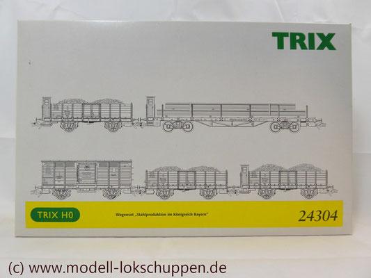 """Trix 24304 Wagen-Set zum Stahlwerk """"Maxhütte""""   2"""